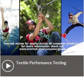 Video textile performance testing