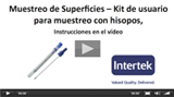 Video Muestreo de superficies con hisopos